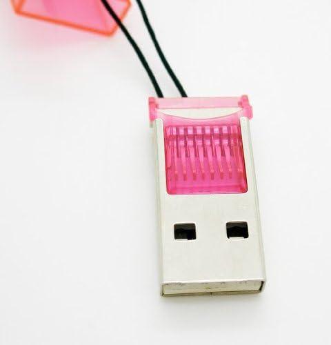 Lector Tarjetas de Memoria T Flash Grabador MicroSd Micro Sd Memory Card 997 rosa