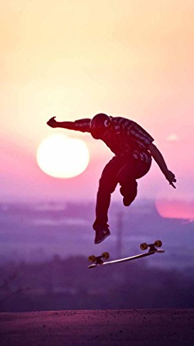 Double skateboard Skateboarding Fabric Cloth Rolled Wall Poster Print -- Size: (43
