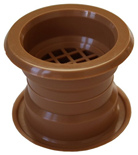 Mini Circle Collar Air Vent Grille Door Ventilation Cover Oak Color 4pcs (Circle Air)