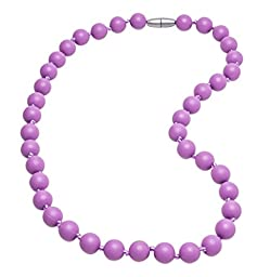Delooa™ Silicone Baby Teething Nursing Necklace, BPA Free, Teething toy for baby, Better than Baltic Amber (Medium Purple)