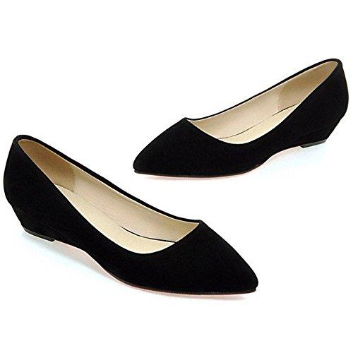 Taompen Comfortabele Zwarte Schoenen Voor Dames Zwart