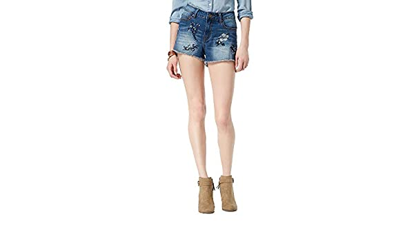 Indigo Rein Juniors Selvedge Ripped Denim Bermuda Shorts