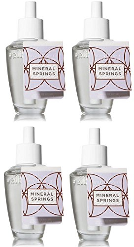 Bath and Body Works 4 Pack Mineral Springs Wallflowers Fragrance Refill. 0.8 Oz