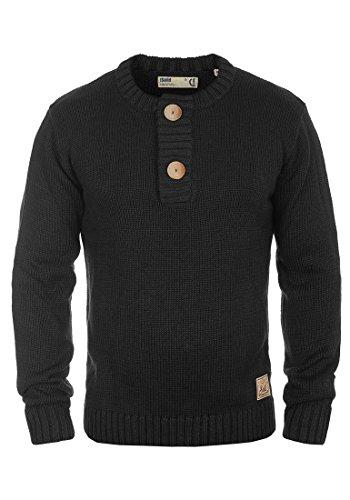 Palani de negro 9000 Jersey tunecino de Solid punto Kniti hombre para con escote wRd1dxXHq