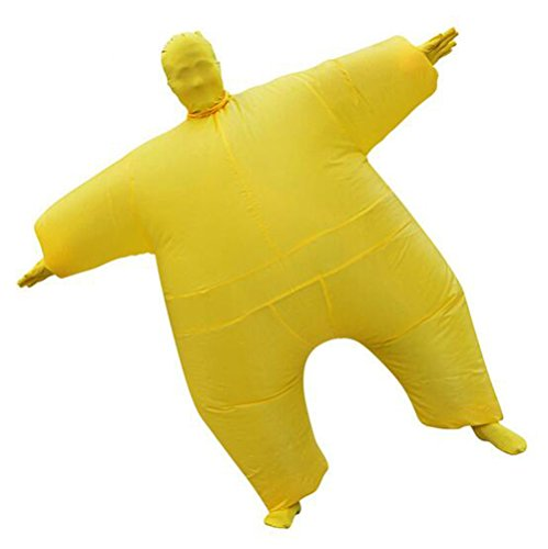 YUJUAN Inflatable Full Body Costumes Suit Blow up Party Cosplay Coregonus Fat Skin Jumpsuit -
