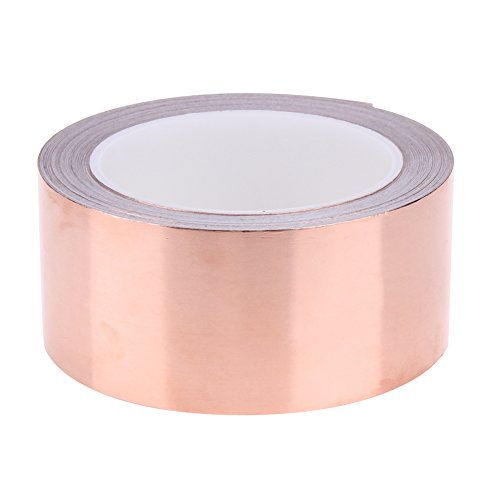 Alloet 20 Meters 5 cm Single Conductive Adhesive EMI Shielding Copper Foil Tape for Slug Repellent, Stained Glass by Alloet