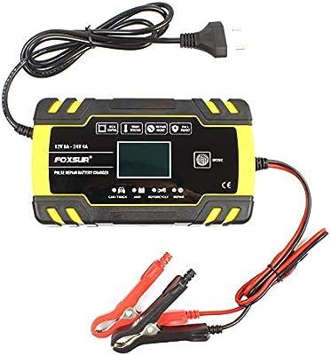 KKmoon Cargador de Baterías 12V 24V para Motocicleta y Automóvil ...