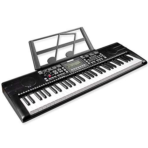 Mugig 61-key Keyboard Piano, Electronic Portable Keyboard, Professional digital piano keyboard with Intelligent Teaching Electronic Piano (KIDS&Adults)