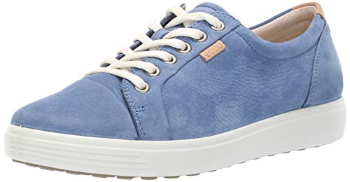 ECCO Women's Women's Soft 7 Sneaker, retro blue, 40 M EU (9-9.5 US)