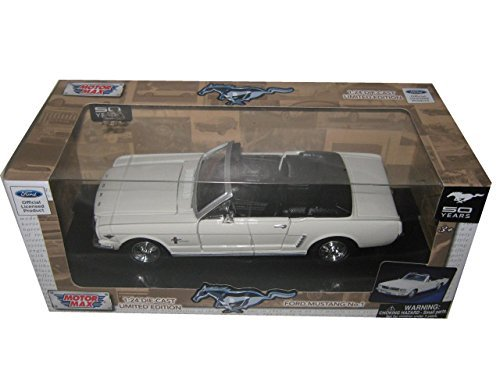 1964 1/2 Ford Mustang Convertible Cream No.1 50th Anniversary 1/24 by Motormax 73212 1964 1/2 Mustang Convertible