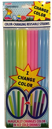 Color Changing Reusable Straws - Easter Fun