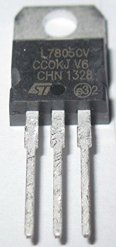 5pcs L7805CV Positive voltage regulator ICs Output 5v TO-220 Package