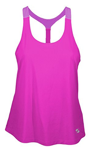 Soffe 1844V6CYXSM T-Back Styling Drape Fit Back Tank Jersey For Junior44; Fuchsia Purple & Violet - Extra - Drapes Purple Jersey