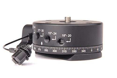 (SunwayFoto DDP-64SIX Indexing Rotator with Arca Dovetail Mounting Plate, 13.23 - 17.64lbs Capacity)