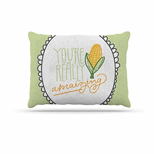 KESS InHouse Busy Bree ''Amamzing'' Green Yellow Dog Bed, 30'' x 40'' by Kess InHouse