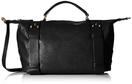 Collection Oversized Tote (MG Collection Bowler Tote Bag, Black, One Size)