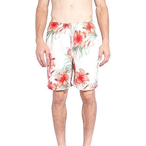 Exist Mens Boardshorts Hawaiian Print Elastic Waist Microfiber Swim Trunks (8079 White,Large) - Louis Cardinals Fiber