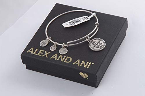 Alex and Ani Women's Rhode Island Charm Bangle Rafaelian Silver Finish One Size