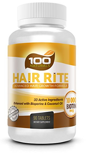 Hair-Rite-Hair-Growth-Vitamins-Supplements--10000-Mcg-of-Biotin-33-Ingredients-Enhanced-with-Black-Pepper-and-Coconut-Oil-Intensive-Hair-Loss-Prevention-for-Women-and-Men