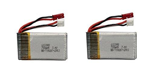 Creation-MJX-X600-RC-Quadcopter-Drone-Pices-de-rechange-700mAh-74V-Batterie-2pcs