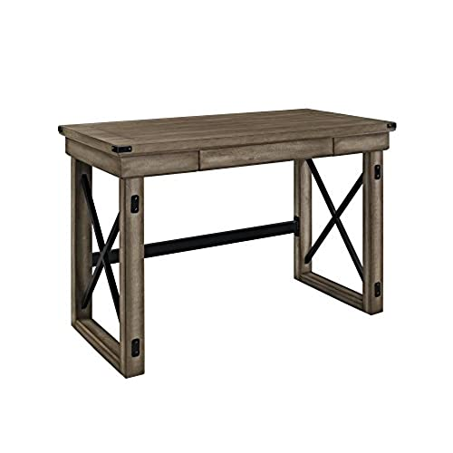 rustic office desk. Altra Wildwood Wood Veneer Desk, Rustic Gray Office Desk