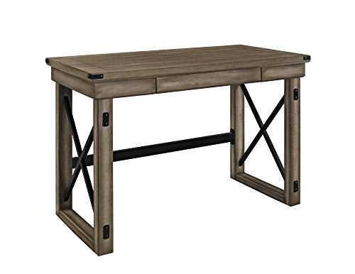 Ameriwood Home Wildwood Wood Veneer Desk, Rustic Gray