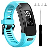 Wizvv Compatible Bands Replacement for Garmin Vivosmart HR, with Metal Buckle Fitness Wristband Strap,Teal