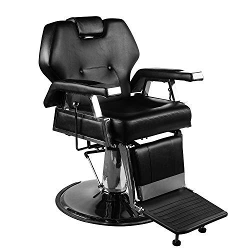 (DOIT Salon Barber Chair Beauty Spa Shampoo Hair Styling Chair Equipment,Beauty Spa Shampoo Hair Styling Reclining Hydraulic Chair Black)