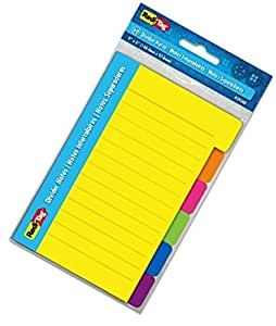 Redi Tag 29500 4inch X 6inch Divider Notes Neon Colors 2 pack