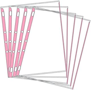 product image for EnvyPak Sheet Protectors - Pastel Color-Coded Edges 8.5 X 11-3 Hole Punched - Pack of 100 (Pink)