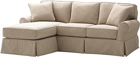 Amazon Com Mayfair Sofa And Chaise Slipcover 37 Hx95 Wx70 D Pearl