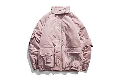 L'hiver Pour pink Multi Adong Col De Collier Pink xxl Japonais Manteau Et L'automne poches wUU0qv