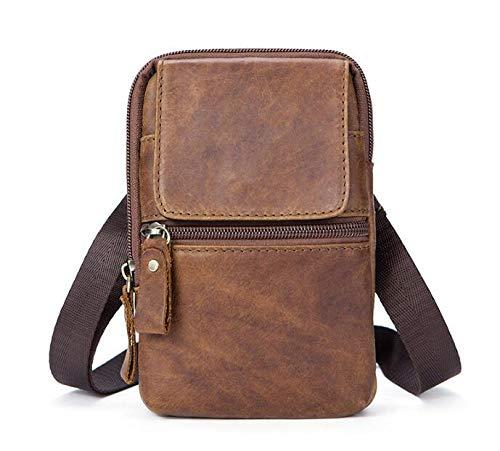 7d3f870727 Amazon.com  Zhoyea Unique Shoulder Bag Men s Fashion Soft Leather Messenger  Bag Shoulder Bag Retro First Layer Cowhide Leather Bag  Sports   Outdoors
