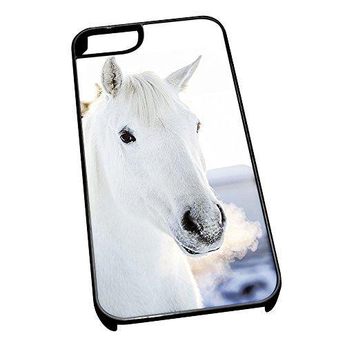 Cover per iPhone 5/5S 0112Cavallo Bianco animale