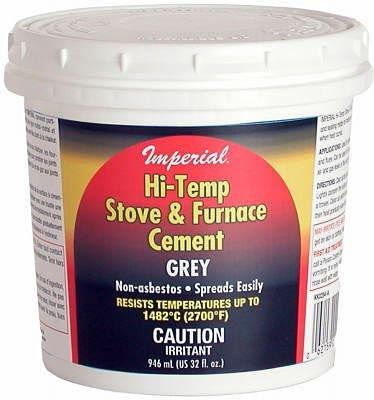 UNITED STATES HDW MFG/U S HA KK0284-A 32OZ Gry Hi Temp Cement, 32 Oz, Gary