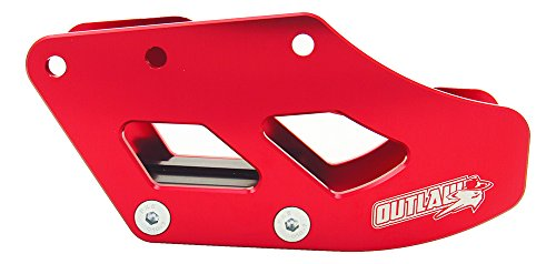 Racing Chain Guide (Outlaw Racing OR2798R Red Rear Aluminum Chain Guide Slider Guard HONDA CR125R 05-07 Swingarm Protector Guard)