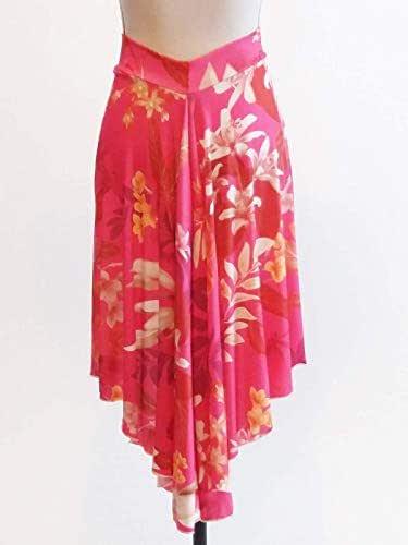 Falda Tango Estampado De Flores De Color Rosa Falda De