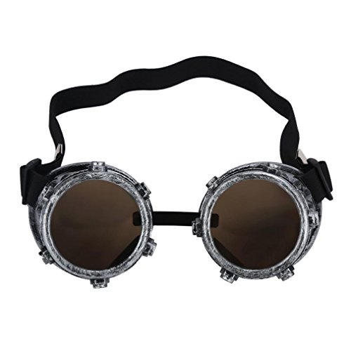 FTXJ Retro Steampunk Goggles Welding Punk Glasses Cosplay (Ancient (Cool Steampunk Costumes)