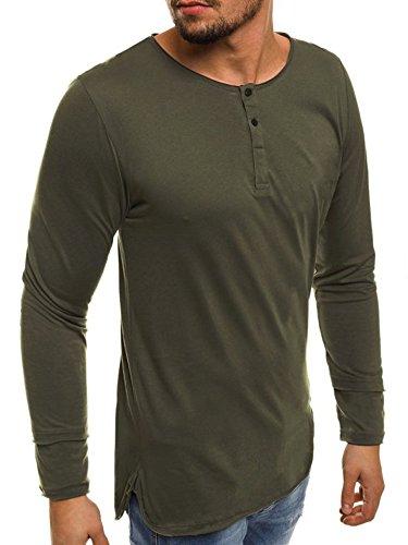 967791327ba Seraih Men s Long Sleeve Henley Tee Raglan Sleeve Shirts (L