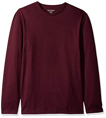 Amazon Essentials Men's Regular-Fit Long-Sleeve T-Shirt, Burgundy, Large