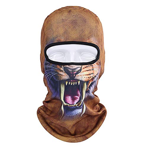 3D Animal Cat Dog Balaclava Bike Hats Snowboard Party Halloween Helmet Liner Winter Warmer Full Face Mask Hat]()