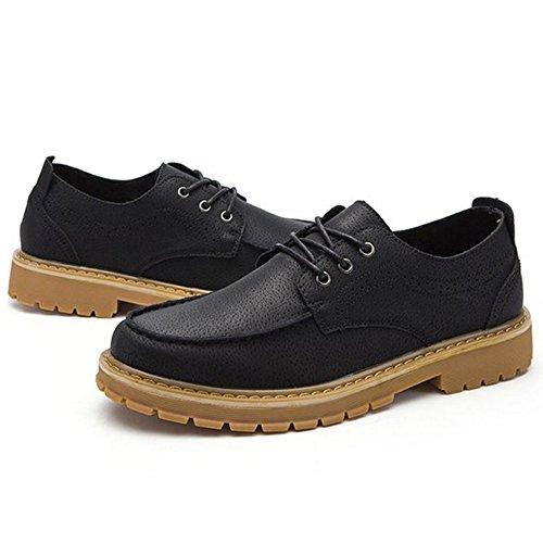 Shoes Up TAOFFEN 230 Black Men Men TAOFFEN Construction Casual Lace Td0nqwBPXx