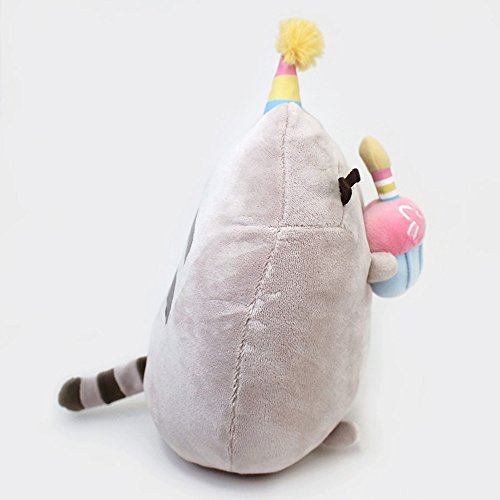 GUND Pusheen Snackables Birthday Cupcake Plush Stuffed Animal, Gray, 10.5'' by GUND (Image #4)