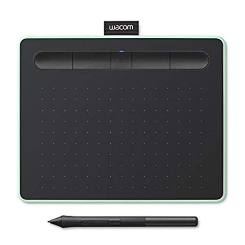 Wacom Intuos S Pistachio, Bluetooth Pen Tablet – Wireless Graphic Tablet for Painting, Sketching and Photo Retouch with 2 Creative Software Downloads, Ideal for Work from Home & Remote Learning