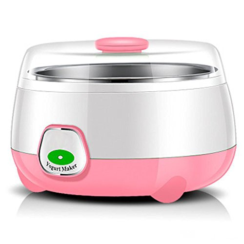 HSR Plastic and Stainless Steel 1L Automatic Yogurt Maker (Multicolour, 170x170x120mm) product image