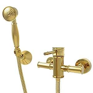Sanlingo ducha con grifo monomando oro estilo retro