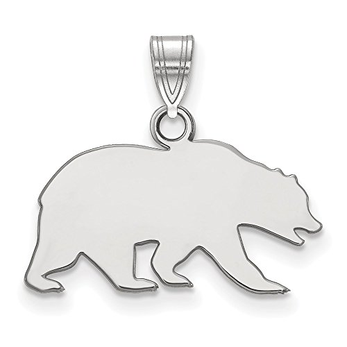 The Black Bow NCAA Sterling Silver California Berkeley Small Necklace - 20 Inch