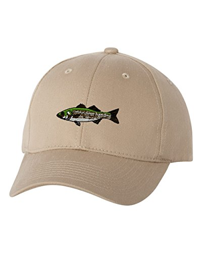 (Striped Bass Personalized Custom Personalized Embroidery Embroidered Hat Baseball Cap)