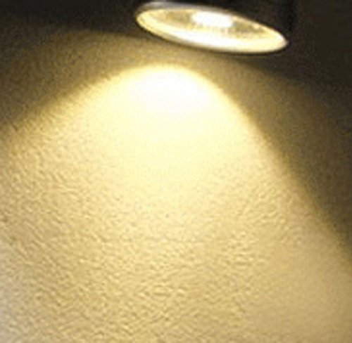 LUMINTURS 7W LED Ceiling Picture Spot Project Downlight Adjustable Lamp Fixture Light Silver Finish Warm white