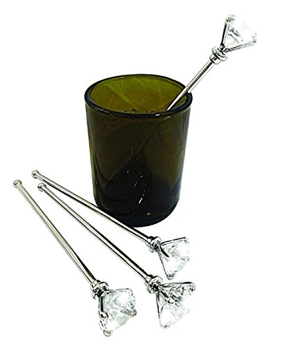 All For Giving DC1576 Diamond Stir Sticks, One Size, Silver